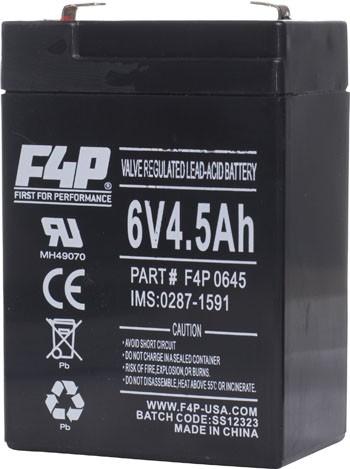 F4p Emergency Sla Battery 6v 4 5a