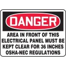 "OSHA 36"" Clearance Label"
