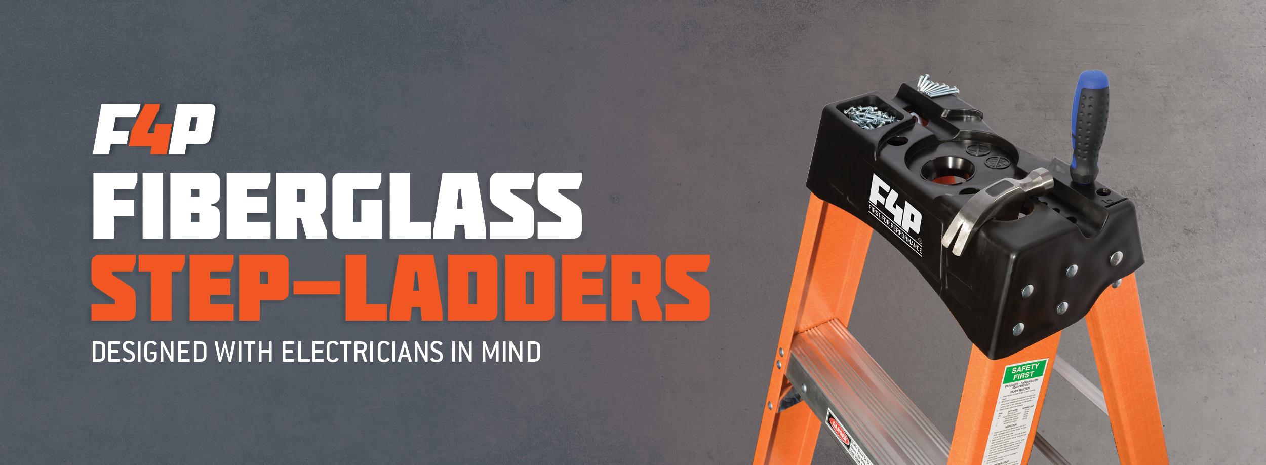 F4P Fiberglass Stepladder Banner