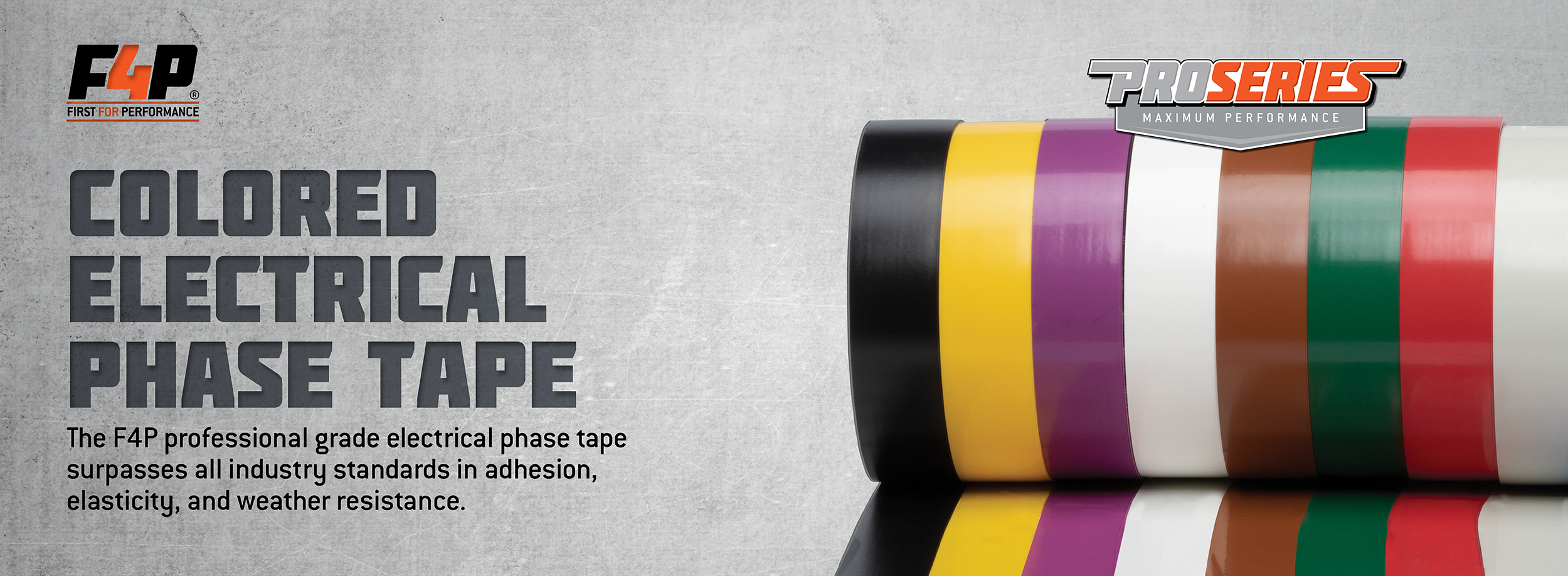 F4P Colored Electrical Phase Tape